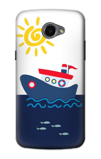 Printed Cartoon Fishing Boat LG G Pro 2 Case