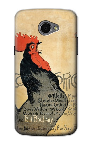 Printed Cocorico Rooster Vintage French Poster LG G Pro 2 Case
