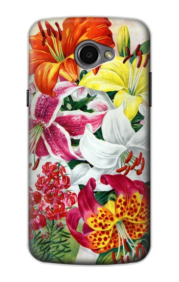 Printed Retro Art Flowers LG G Pro 2 Case