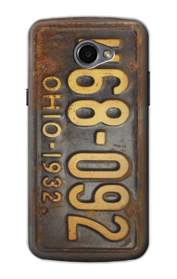 Printed Vintage Car License Plate LG G Pro 2 Case