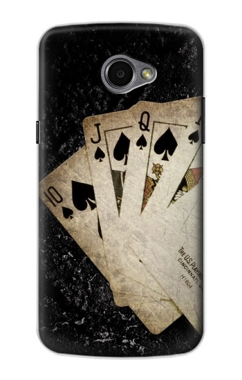 Printed Vintage Royal Straight Flush Cards LG G Pro 2 Case