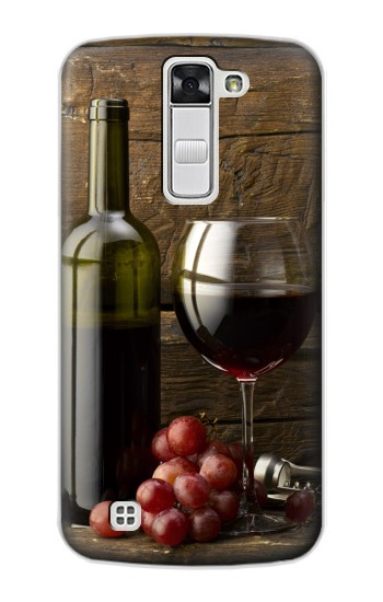 Printed Grapes Bottle and Glass of Red Wine LG G Stylo Case