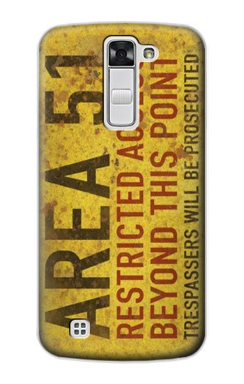 Printed Area 51 Restricted Access Warning Sign LG G Stylo Case