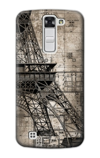Printed Eiffel Tower Blueprint LG G Stylo Case