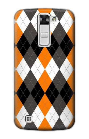 Printed Black Orange White Argyle Plaid LG G Stylo Case