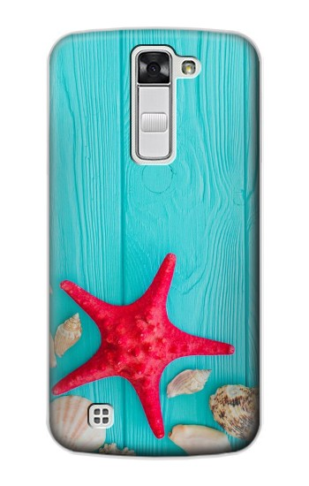 Printed Aqua Wood Starfish Shell LG G Stylo Case