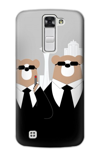 Printed Bear in Black Suit LG G Stylo Case