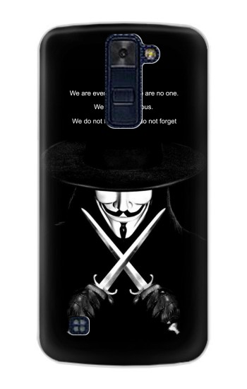 Printed V Mask Guy Fawkes Anonymous LG AKA Case
