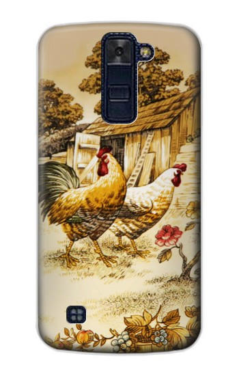 Printed French Country Chicken LG AKA Case