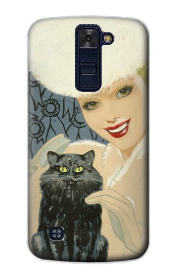 Printed Beautiful Lady With Black Cat LG AKA Case