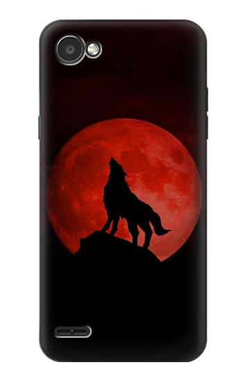 Printed Wolf Howling Red Moon LG G2 Mini Case