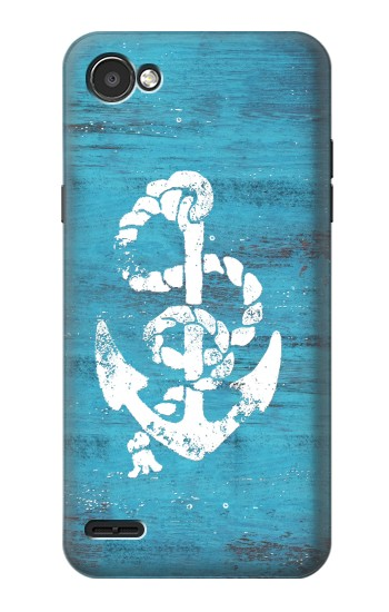 Printed Marine Anchor Blue Wooden LG G2 Mini Case