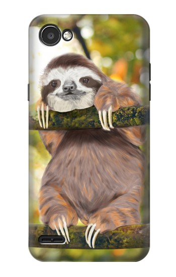 Printed Cute Baby Sloth Paint LG G2 Mini Case