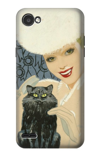 Printed Beautiful Lady With Black Cat LG G2 Mini Case