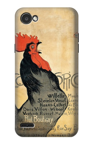 Printed Cocorico Rooster Vintage French Poster LG G2 Mini Case