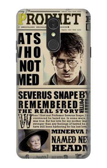 Printed Harry Potter Daily Prophet LG Q7 Case