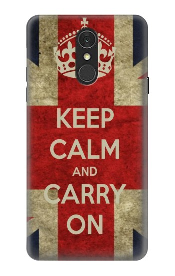 Printed Keep Calm and Carry On LG Q7 Case