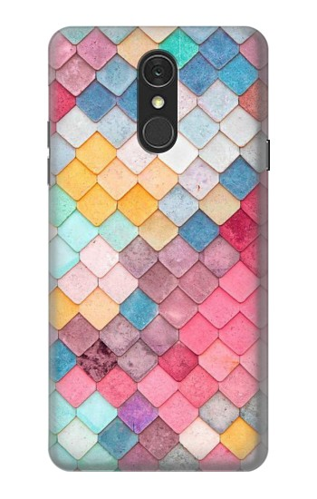 Printed Candy Minimal Pastel Colors LG Q7 Case