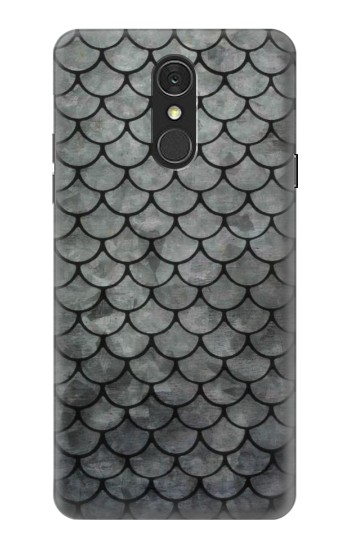Printed Silver Fish Scale LG Q7 Case