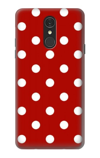 Printed Red Polka Dots LG Q7 Case