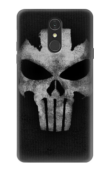 Printed Crossbones Skull Mask LG Q7 Case