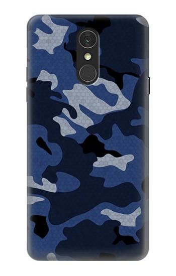 Printed Navy Blue Camouflage LG Q7 Case