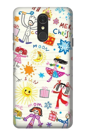 Printed Kids Drawing LG Q7 Case