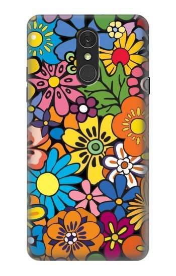 Printed Colorful Flowers Pattern LG Q7 Case