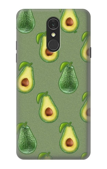 Printed Avocado Fruit Pattern LG Q7 Case