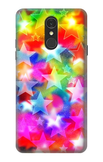 Printed Colourful Disco Star LG Q7 Case