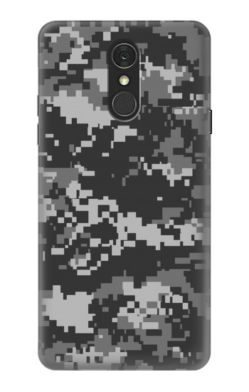 Printed Urban Black Camouflage LG Q7 Case
