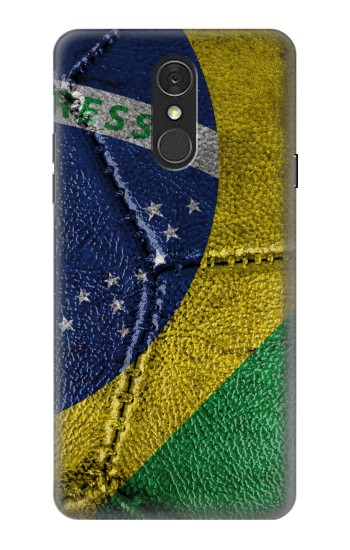 Printed Brazil Flag Vintage Football 2018 LG Q7 Case