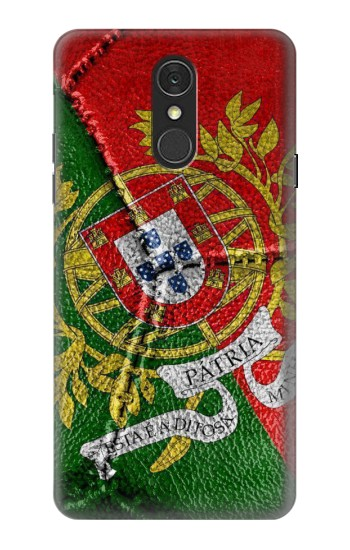 Printed Portugal Flag Vintage Football 2018 LG Q7 Case
