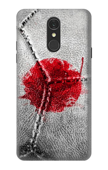 Printed Japan Flag Vintage Football 2018 LG Q7 Case