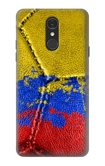 Printed Colombia Flag Vintage Football 2018 LG Q7 Case