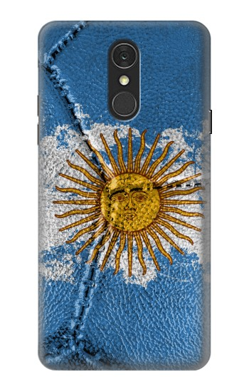 Printed Argentina Flag Vintage Football 2018 LG Q7 Case
