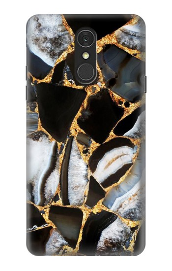 Printed Gold Marble Graphic Print LG Q7 Case