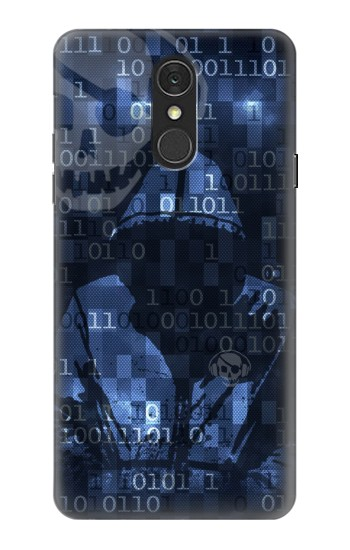 Printed Digital Code Cyber Hacker LG Q7 Case