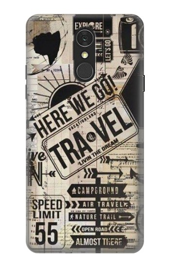 Printed Vintage Travel LG Q7 Case