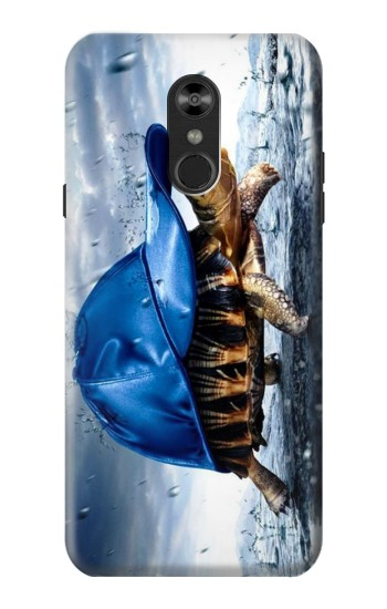 Printed Turtle in the Rain LG Q Stylo 4, LG Q Stylus Case