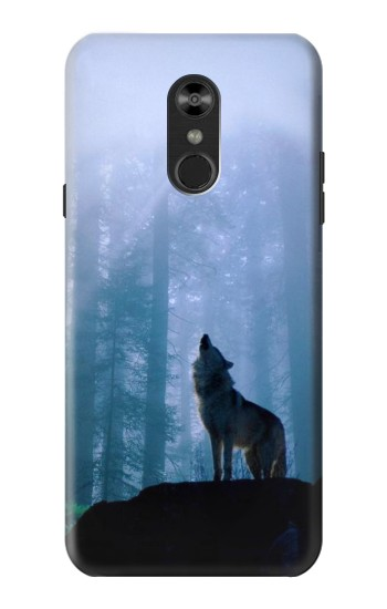 Printed Wolf Howling in Forest LG Q Stylo 4, LG Q Stylus Case
