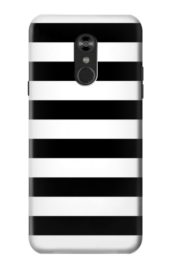 Printed Black and White Striped LG Q Stylo 4, LG Q Stylus Case