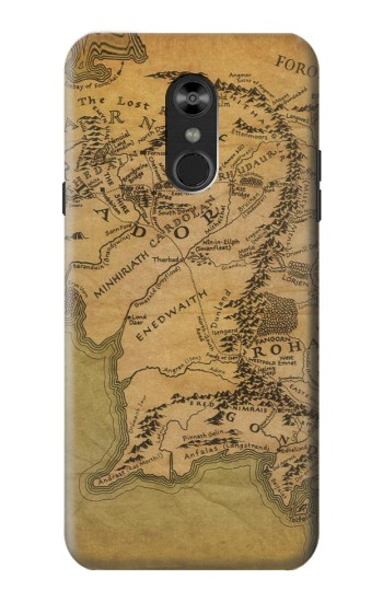 Printed The Lord Of The Rings Middle Earth Map LG Q Stylo 4, LG Q Stylus Case