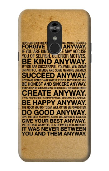 Printed Mother Teresa Anyway Quotes LG Q Stylo 4, LG Q Stylus Case