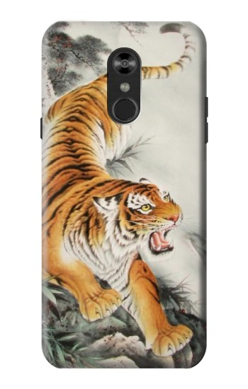 Printed Chinese Tiger Tattoo Painting LG Q Stylo 4, LG Q Stylus Case