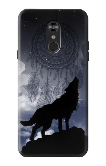 Printed Dream Catcher Wolf Howling LG Q Stylo 4, LG Q Stylus Case