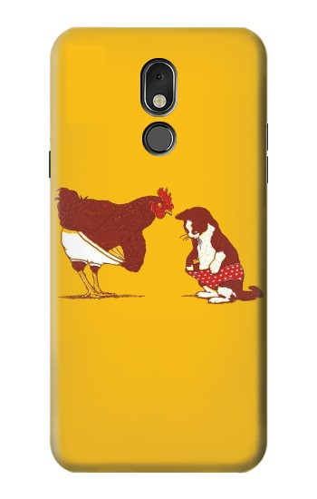 Printed Rooster and Cat Joke LG Stylo 5 Case