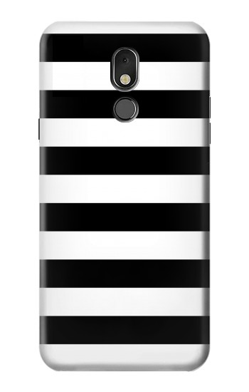 Printed Black and White Striped LG Stylo 5 Case