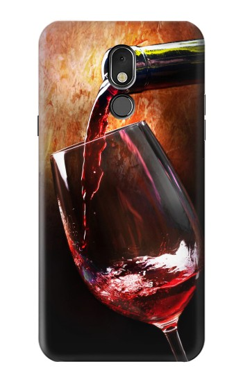 Printed Red Wine Bottle And Glass LG Stylo 5 Case
