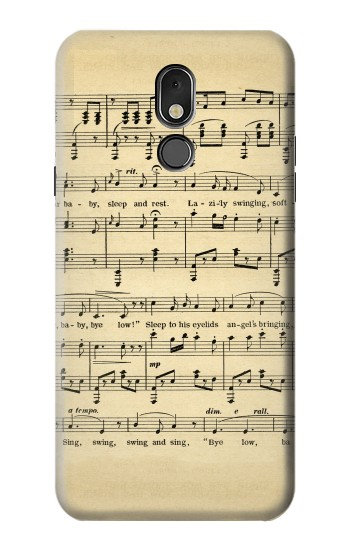 Printed Vintage Music Sheet LG Stylo 5 Case